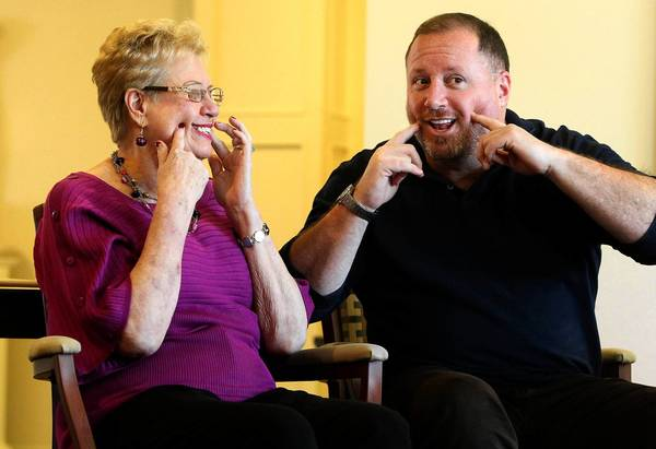 Susan Brown, a 74-year-old Alzheimer's patient in Missouri, participates in activities with her son David. An estimated 4.7 million Americans 65 or older had Alzheimer's disease in 2010, and that number is expected to grow drastically in decades to come.