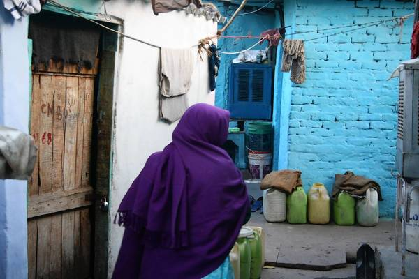 Narrow alleys and tiny houses characterize the R.K.Puram slum in Delhi. Four of the suspects in a recent high-profile rape case lived in the neighborhood.