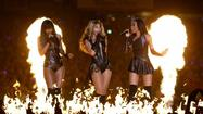 "At Sunday's Super Bowl, Beyonce wore costumes that incorporated leather and exotic iguana and snakeskin. People for the Ethical Treatment of Animals wishes she hadn't. And that she hadn't worn a fur coat to President Obama's inauguration in January, either. ""We would take a bet that if Beyoncé watched our video exposés, she'd probably not want to be seen again in anything made of snakes, lizards, rabbits or other animals who died painfully,"" The organization reportedly said in a statement. ""Today's fashions are trending toward humane vegan options, and Beyoncé's Super Bowl outfit missed the mark on that score."" <a href=""http://nymag.com/thecut/2013/02/peta-didnt-like-beyoncs-super-bowl-outfit.html"">[The Cut]</a>"