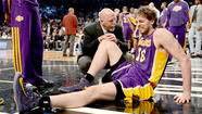 "It's unclear how long the Lakers' Pau Gasol will be out with what the team said Wednesday was a ""tear of the plantar fascia."""