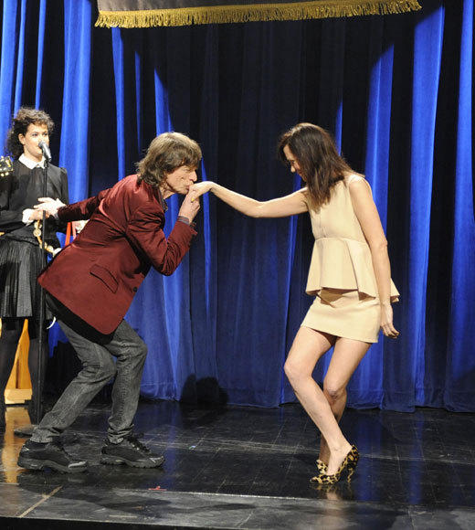 "May 19, 2012<BR><BR>Jagger flew solo, helping ""SNL"" say goodbye to Kristen Wiig. His band the Rolling Stones also pulled double duty once, back in 1978."