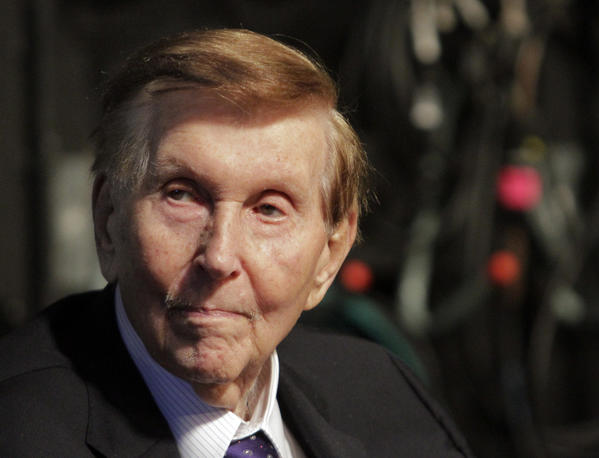 Sumner Redstone, chairman of Viacom Inc. and CBS Corp., had a USC School of Cinematic Arts building named in his honor on Tuesday. The school honored the media titan, who recently donated $10 million to the school, with a ceremony that included remarks by Steven Spielberg and George Lucas.