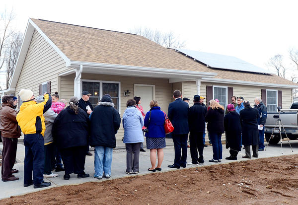 The newest Habitat for Humanity home in the Auburndale Subdivision of Martinsburg, W.Va., was dedicated Wednesday afternoon.