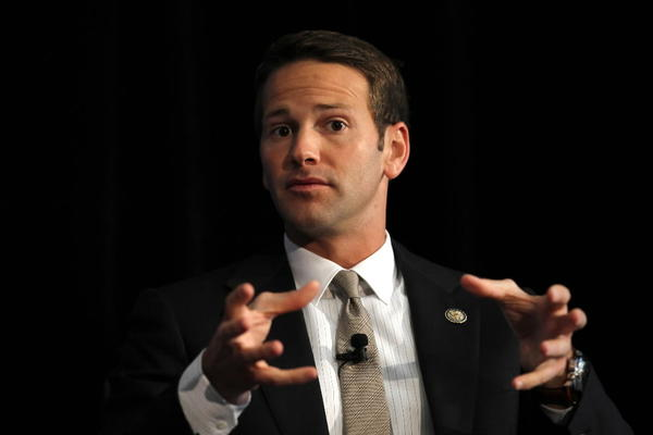 Republican U.S. Rep. Aaron Schock, seen here last September at a panel discussion, got news from a House ethics panel today.
