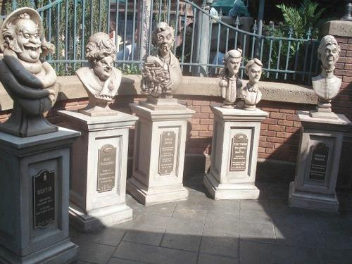 Five busts are at the front of the new portion of the queue. They represent Bertie (from left), Aunt Florence, Uncle Jacob, Twins Forsythia and Wellington, and Cousin Maude.