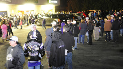 Wild scene in North Harford Wednesday night for Ravens players'…