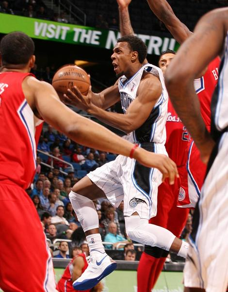 Orlando guard Ish Smith moves the ball during the Los Angeles Clippers at Orlando Magic NBA game at the Amway Center in Orlando