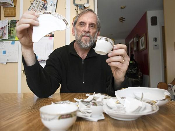 Timothy Reddinger shipped his grandmother's china set in June from New Mexico to his home in Elk Grove Village. The damage totaled $444.