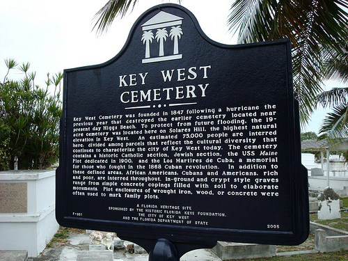Florida Getaways of the Day - <b>Key West Cemetery:</b> A favorite haunt