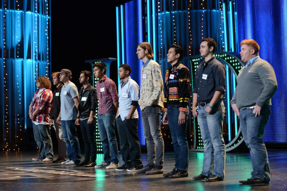 The boys compete in the Hollywood rounds on 'American Idol'