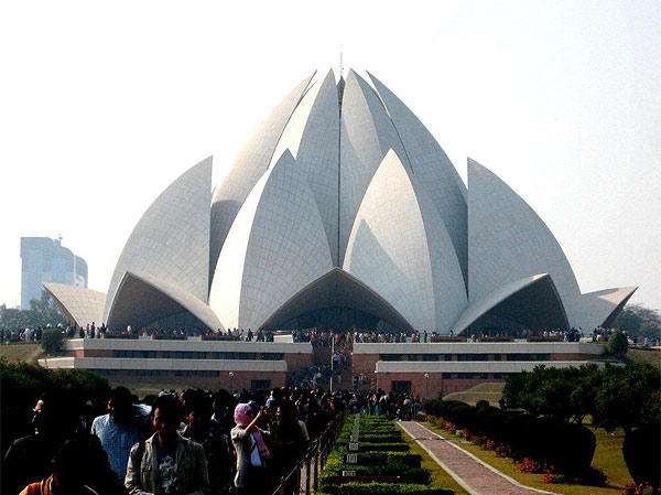 This photo of the Baha'i House of Worship, also known as the Lotus Temple, in New Delhi, India, was taken by Mark Behrens of Orlando. The Lotus Flower shaped temple opened for public worship in