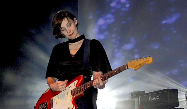 Bilinda Jayne Butcher of My Bloody Valentine performs at the Santa Monica Civic Auditorium in 2008.
