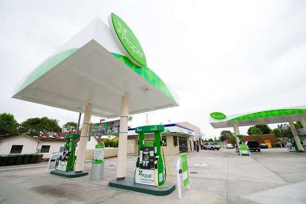 A Propel Fuels station in Fullerton. A new report from E2, Environmental Entrepreneurs, cites the 2008 move of Propel Fuels from Washington to California as an example of why California leads the nation in attracting advanced bio-fuel companies.