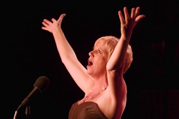 "Singer Joan Curto performs her show ""Sassy, Brassy and Classy: The Songs of Ethel Merman and Mary Martin"" at Davenport's in Chicago in 2007."
