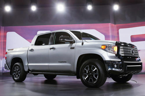 The 2014 Toyota Tundra full-size pickup makes its debut at the Chicago Auto Show on Thursday.