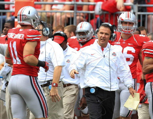 Ohio State coach Urban Meyer talked about recruiting against the SEC and the rivalry with Michigan on Dan Patrick's radio show Thursday.