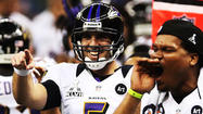 The NFL has released some intimate audio and video from the sidelines of Super Bowl XLVII, and one of the most interesting exchanges was filmed on the Ravens sideline before the final play of Baltimore's 34-31 win.