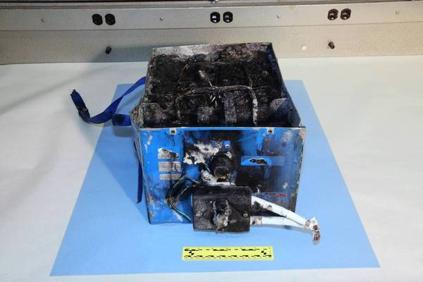 An auxiliary power-unit battery from a Boeing 787 caught fire at Logan Airport in Boston this month.