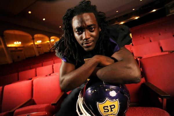 Alex Collins will be playing football for Arkansas next season. Just don't tell his mom.