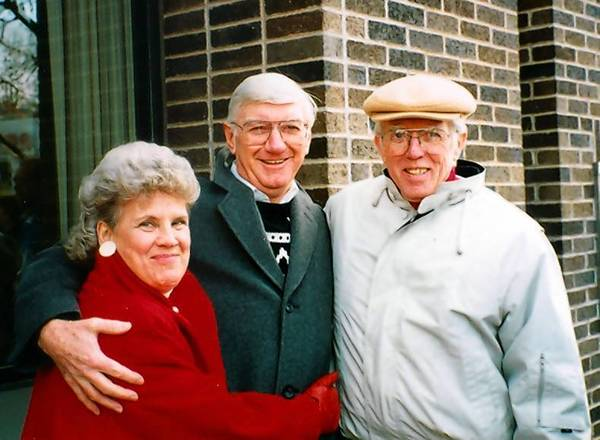 Donald Jackson with his friends, Jean McLaughlin and Eddie McLaughlin. Jackson has been friends with Eddie McLaughlin since grade school.