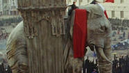 On Location: For 'Les Miserables,' fake elephants, real mud and airborne furniture