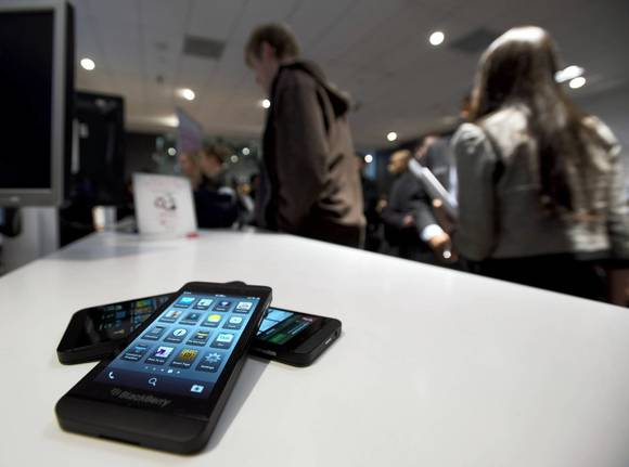 BlackBerry's new phone is off to a good start in Britain and Canada