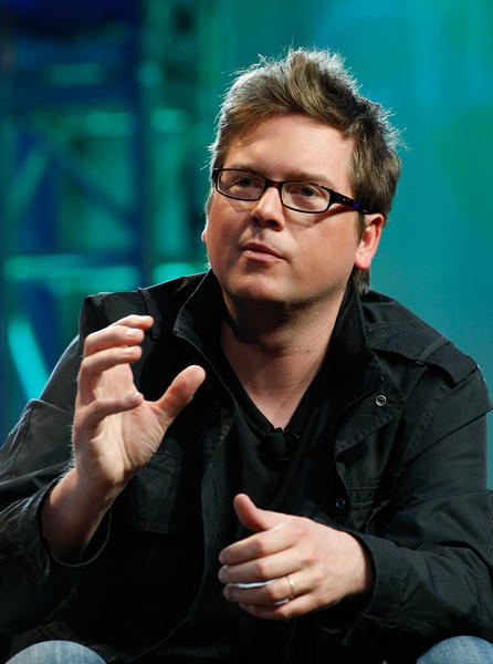 Twitter co-founder Biz Stone speaks during a round-table discussion at the International CTIA Wireless 2010 convention at the Las Vegas Convention Center Marc