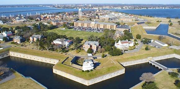 Aerial picture of Fort Monroe