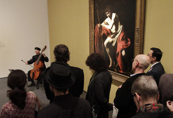 Denise Briese performs Italian baroque music with the viola digamba at the Los Angeles County Museum of Art.