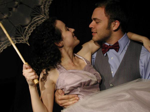 "Deirdre Manning (Eurydice) and Glenn Lorandeau (Orpheus) star in ""Eurydice"" at Theatre UCF."
