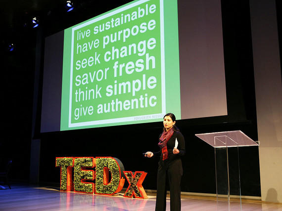 Kavita Shukla, founder of Fenugreen, at last year's TEDxManhattan.