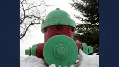 Hydrants like this one on Race Street in Somerset need to be clear of snow.