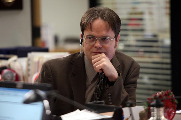 "Rainn Wilson as Dwight Schrute in ""The Office."""