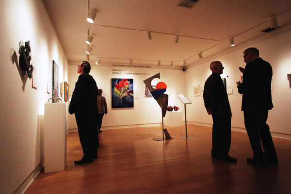 Attendees had the opportunity to bid on 87 works in last year's silent auction at the Laguna Art Museum.