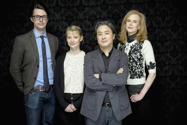 South Korean director Chan-wook Park, second from right, with stars Matthew Goode, Mia Wasikowska and Nicole Kidman, right.