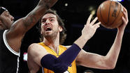 The Lakers announced Thursday that Pau Gasol will be out for a minimum of 6-8 weeks with a torn plantar fascia in his right foot.
