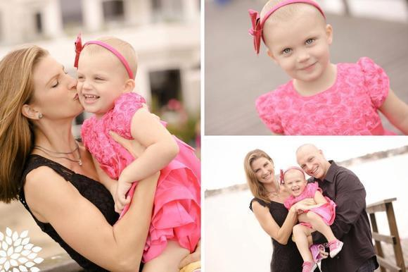 At left Raelyn Beckler with her mother, Rebecca. Bottom right, Rebecca and Greg Beckler with their daughter, Raelyn.
