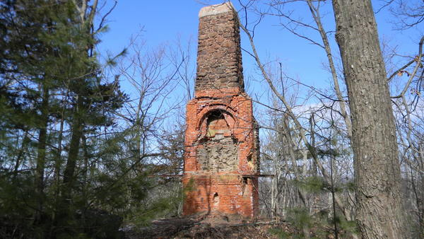 The ruins of Bartlett's Tower, a 70-foot-high structure built in 1889 and a spot that drew tourists.