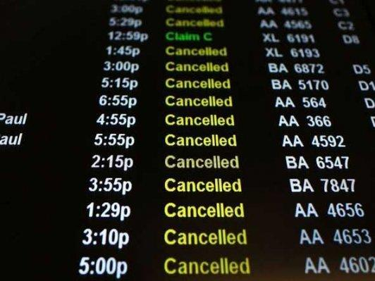Thousands of flights have been canceled in anticipation of a strong winter storm heading toward the Northeast.