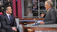 John Harbaugh stopped in with David Letterman on Thursday