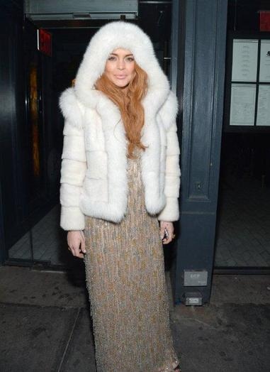 Lindsay Lohan ready for blizzard Nemo