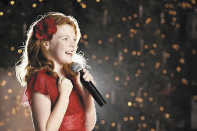 "Hannah Richardson, 11, of Waynesboro, Pa., sings during a recent performance. She recently tried out for ""La Voz Kids"" on Spanish channel Telemundo."
