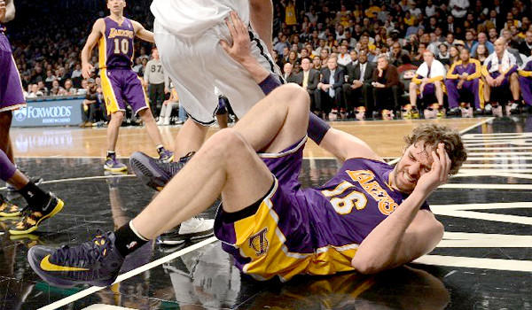 Pau Gasol injured his foot against the Brooklyn Nets on Feb. 5.