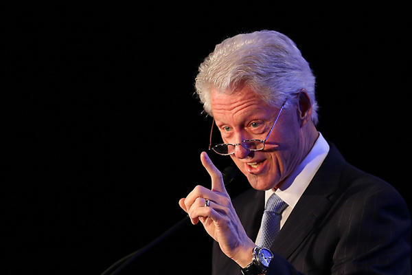 Former President Clinton warned against Democrats distancing themselves from gun control out of fear of electoral reprisals.