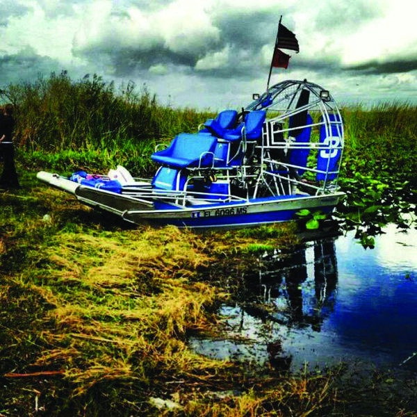 "Sean Wilson, of Pembroke Pines, took this photo of an air boat near Alligator Alley, in an area called Everglades 3A North. ""We were enjoying another great weekend in the Glades,"" said Wilson."