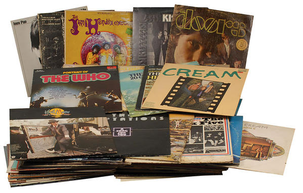Punk rocker Joey Ramone's vinyl LP collection is being put up for auction by his estate.