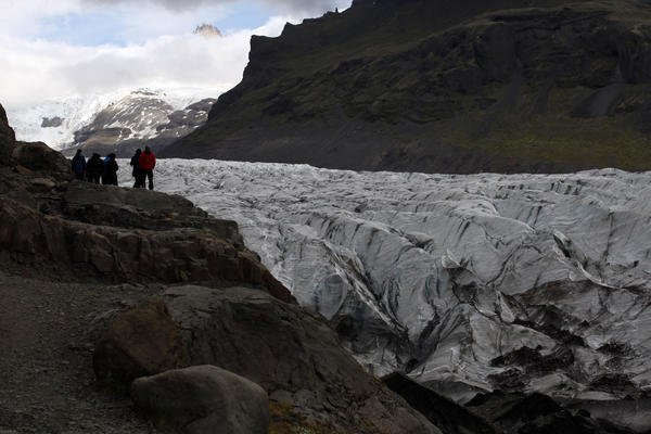 Vatnajokull Glacier, Iceland's biggest ice cap, is one of the landmarks of southeast Iceland.