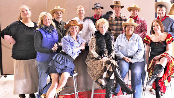 Cast members of ¿Who Shot Calhoun  Cahootz?¿ play the quirky characters of Buzzard Bend to raise funds for the Gaylord High School Drama Club.