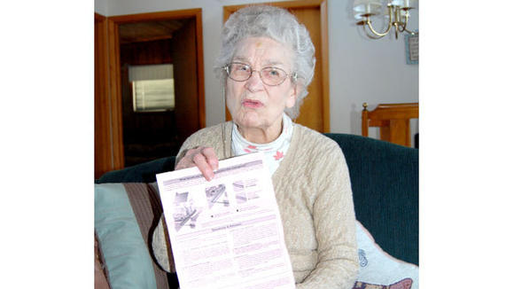 Charlotte Porath, 90, received a mailing that at first perplexed her, then made her suspicious of a scam.