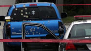 Pickup truck fired upon by police, Bob Chamberlin, Los Angeles Times